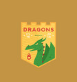 dragons medeival sports team emblem abstract vector image vector image