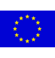 Flag of EU vector image vector image