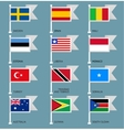 Flags set four-09 vector image vector image