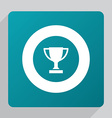 flat winner cup icon vector image