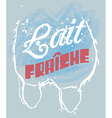 Fresh Milk in French vector image vector image