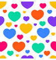 fun seamless vintage love heart background vector image vector image