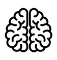 genius brain icon outline style vector image vector image