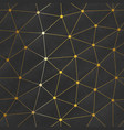 gold color web triangle pattern vector image vector image