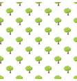 green tree pattern vector image vector image