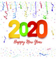 happy new year 2020 abstract design with colorful vector image vector image