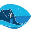 home near the sea vector image vector image