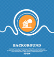 house icon sign Blue and white abstract background vector image