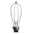 Incandescent Lamp vintage engraving vector image vector image