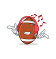 listening music american football character vector image vector image