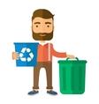 Man sorting a trash vector image