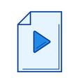 media file line icon vector image