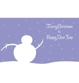 Merry Christmas snowman winter landscape vector image vector image