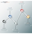 Modern infographics timeline vector image