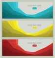 Modern template set abstract background vector image vector image