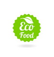 natural stamp eco friendly vector image vector image