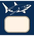 Nautical background with rope frame and shark