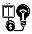 on switch bulb light icon simple style vector image