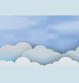paper art of cloudscape beautiful with blue sky vector image vector image