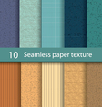 Paper seamless texture background set1 vector image