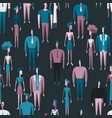 people crowd seamless pattern with men and women vector image