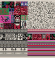peruvian motifs 4 seamless background vector image vector image
