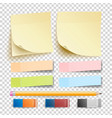 post note sticker isolated set eraser and vector image