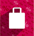 SALE shopping bag with copy space and long shadow vector image
