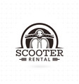 scooter rental emblem vector image