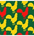 Seamless pattern with cocks vector image