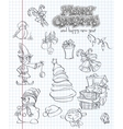 set christmas and new year festive items and vector image vector image