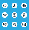 set of simple warrant icons elements protect vector image vector image