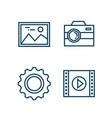 settings menu smartphone icons vector image vector image