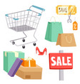 shopping supermarket store shop grocery vector image vector image