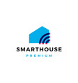 smart home house signal wifi wireless tech logo vector image vector image
