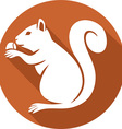 Squirrel with a Hazelnut Icon vector image vector image