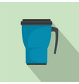 thermo cup icon flat style vector image vector image