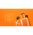 travel with different staff and logo vector image vector image