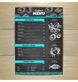 Vintage chalk drawing seafood menu design vector image vector image
