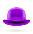 Violet bowler hat vector image vector image