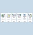 web site onboarding screens online business vector image vector image