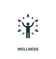wellness icon simple element from life skills vector image vector image