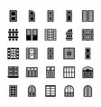window shades icons vector image