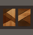 wood texture background geometric cover vector image vector image