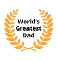 Worlds Greatest Dad label vector image vector image