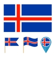 Icelandcountry flag vector image