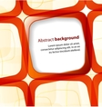 Red square and frame background vector image