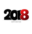 happy new year 2018 text vector image