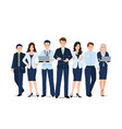 business team isolated on white background vector image