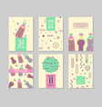 abstract memphis style posters templates set vector image vector image